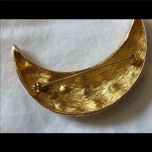 Dior Jewelry - Christian Dior Crescent Moon Brooch